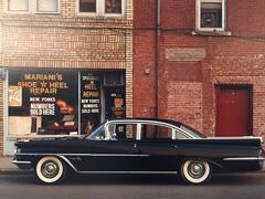 1959 Oldsmobile Super 88, Mariani's Shoe & Heel Repair, Endicott, NY