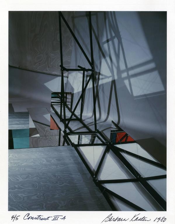 Barbara Kasten Abstract Photograph - Construct III-A