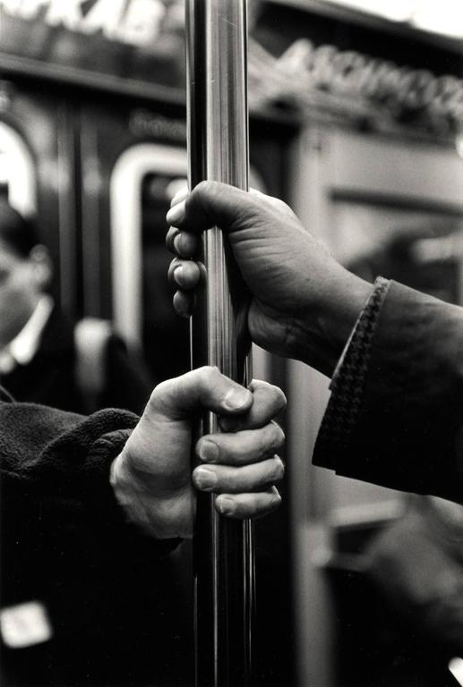 Kazuo Sumida Black and White Photograph - B Train (from the series A Story of the New York Subway)