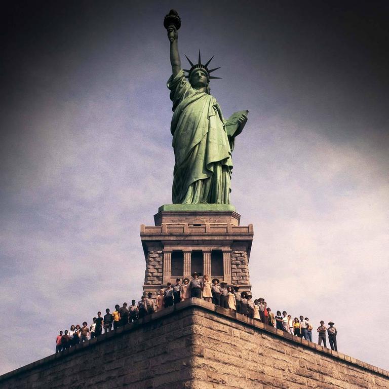 Staff of Statue of Liberty, Liberty Island, NY