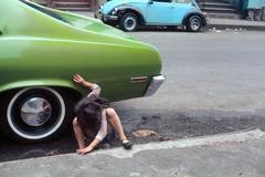 """New York (""""spider girl"""" and green car)"""