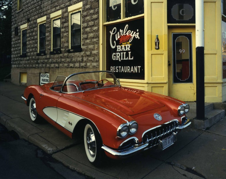 Bruce Wrighton Color Photograph - 1958 Corvette, Curley's Bar and Grill, Johnson City, New york