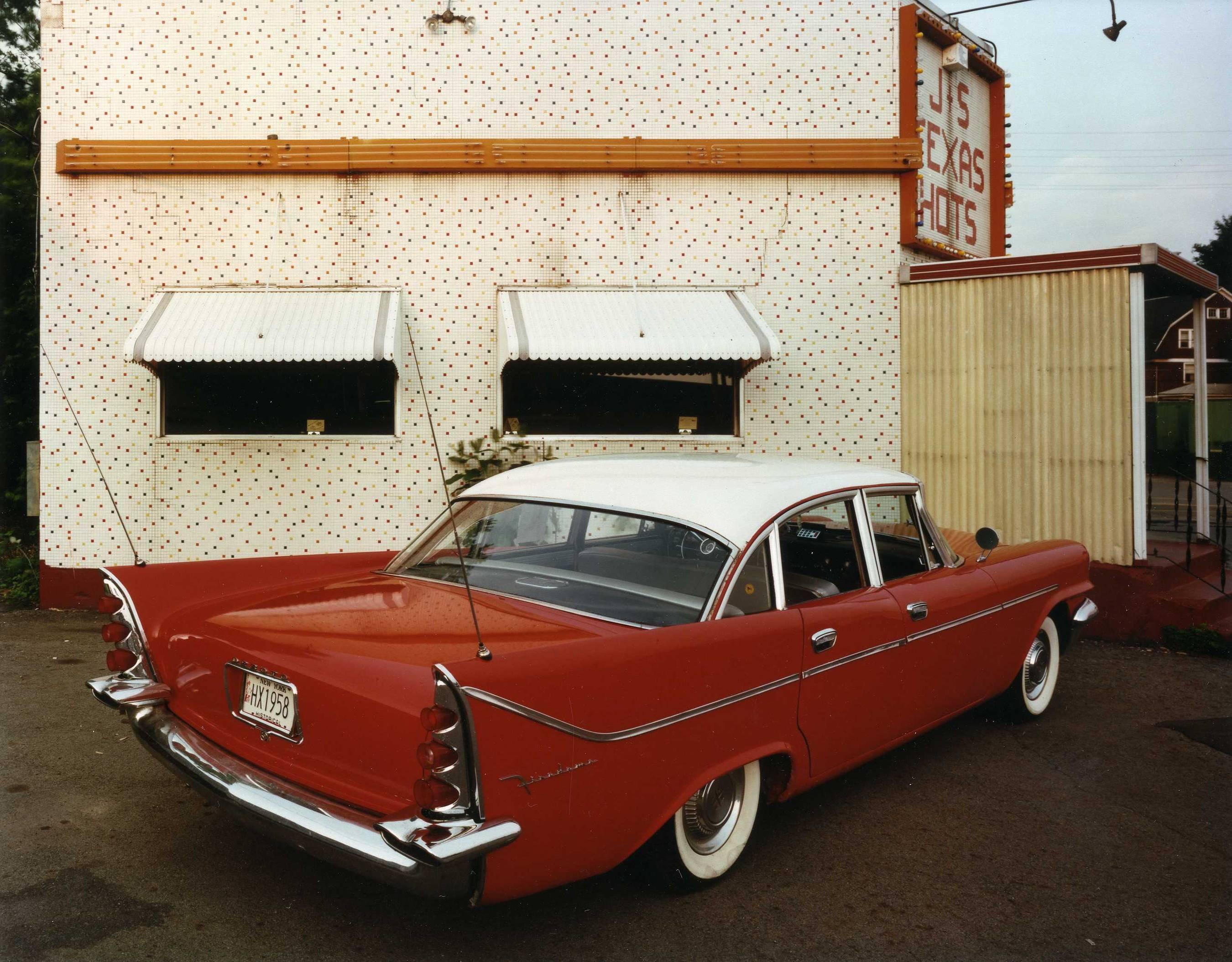 1958 DeSoto Firedome, J & S Texas Hots, near Binghamton, New York