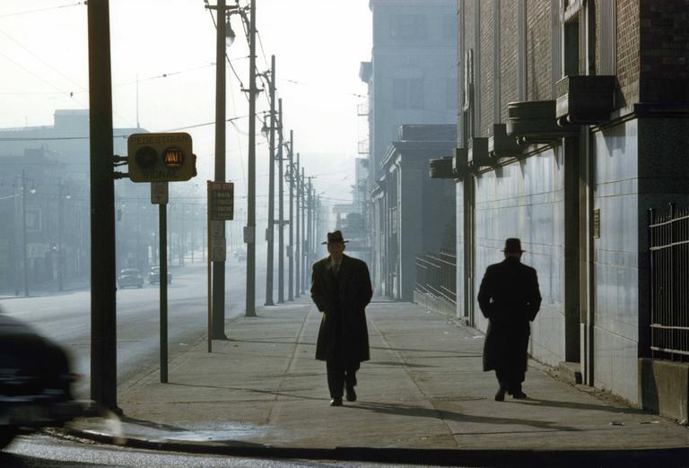 Two Men in Fog