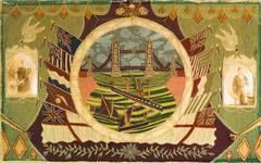 British Woolwork depicting London's Tower Bridge