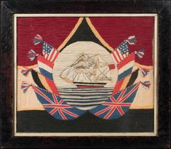 A Sailors Embroidered Panel
