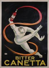 Italian Art Deco Period Stone Lithograph Liquor Poster by Roberto Aloy, 1925