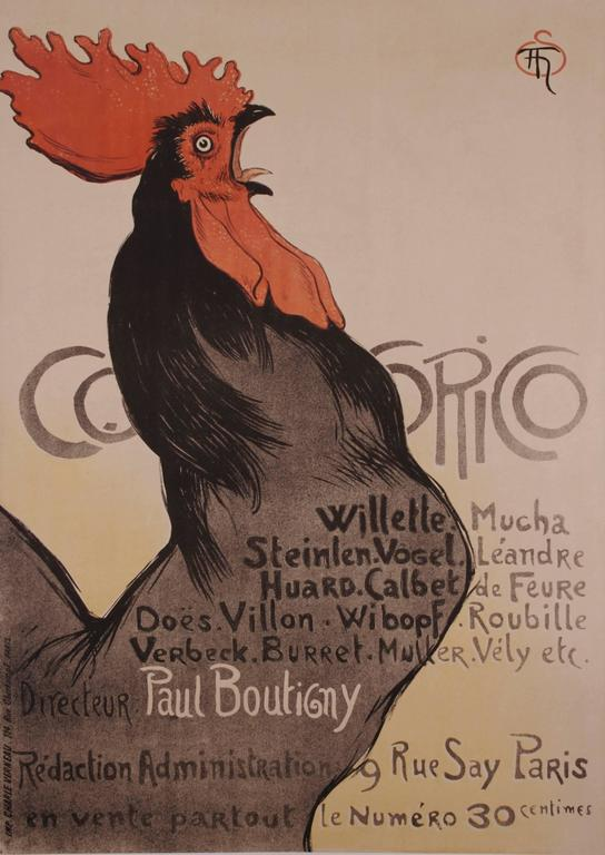 Théophile Alexandre Steinlen - French Turn of the Century Stone Lithograph by Theophile Steinlen, 1899 1