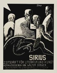 """Sirius,"" a Swiss Stone Lithograph Expressionist Poster by Christian Schad, 1915"