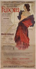 Italian Art Nouveau Period Stone Lithograph Opera Poster by Dudovich, 1899