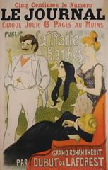 Original French Turn of the Century Poster by Theophile Steinlen, c. 1890s