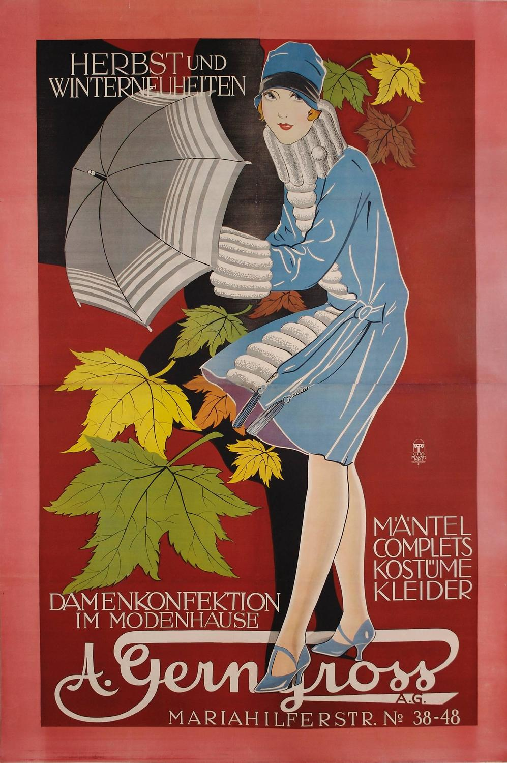 Unknown Austrian Secessionist Period Fashion Poster