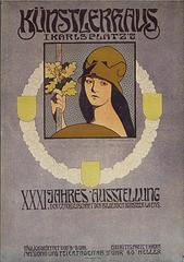 Austrian Jugendstil Period Poster by Anton Karlinsky, circa 1900