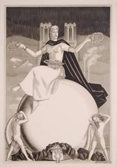 """Reims,"" a French Art Deco Period Lithograph by Adrien Senechal, circa 1940"