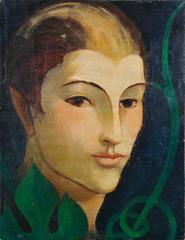 Italian Futurist Oil Painting by Ernesto Micaelles (Thayaht), 1927