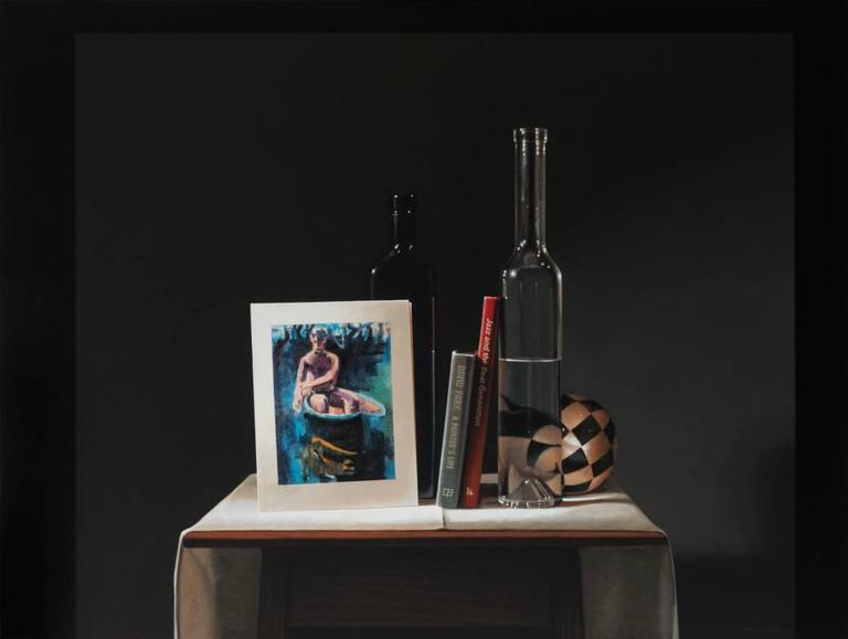 Guy Diehl Still-Life Painting - Still Life with David Park