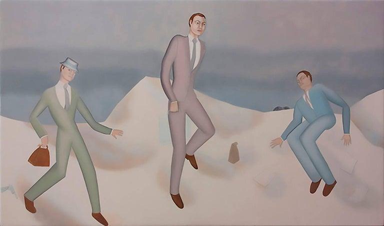 Elizabeth Fox Portrait Painting - Businessmen in the Snow