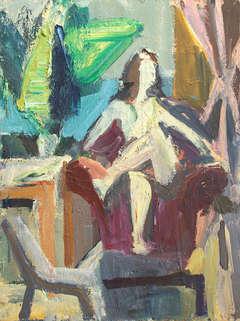 Woman Among Studio Furniture