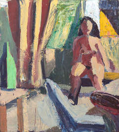 Woman with Green Bottle