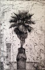 Palm Tree With Column (bw)