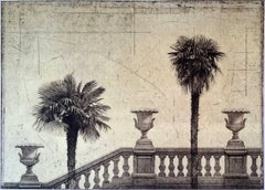 Two Palms with Urns