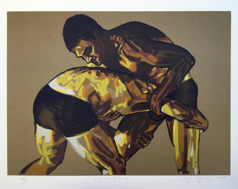 Miguel Angel Reyes Figurative Print - Suspicious Activity