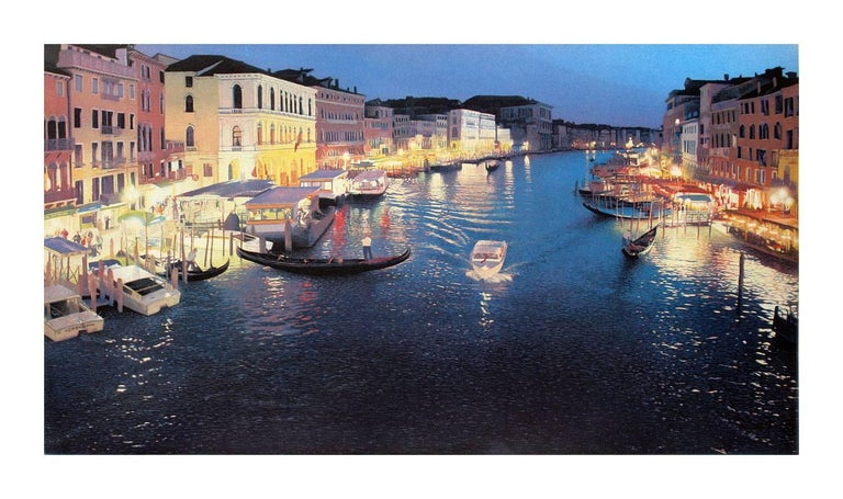 Landscapes and seascapes are a specialty for McMillan, but capturing the night-time lights of the Grand Canal in Venice is an unusual subject for this artist who usually specializes in scenes from the northwest United States. 