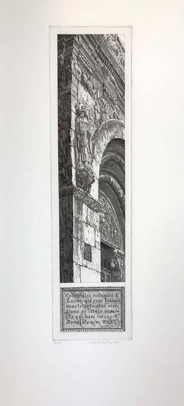 John Taylor Arms Landscape Print - Stone Tapestry, San Isidoro, Leon