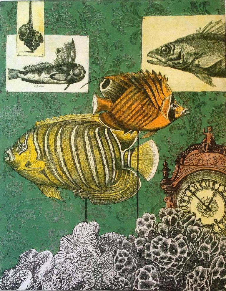 Anne-Marie Petri Animal Print - Interior of a Ichthyologist