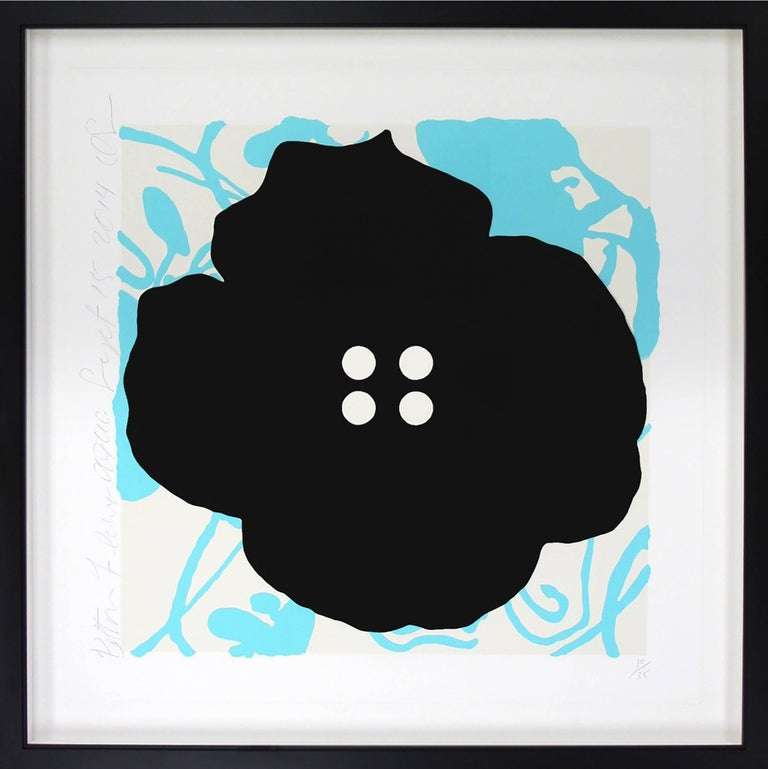 Button Flower Aqua