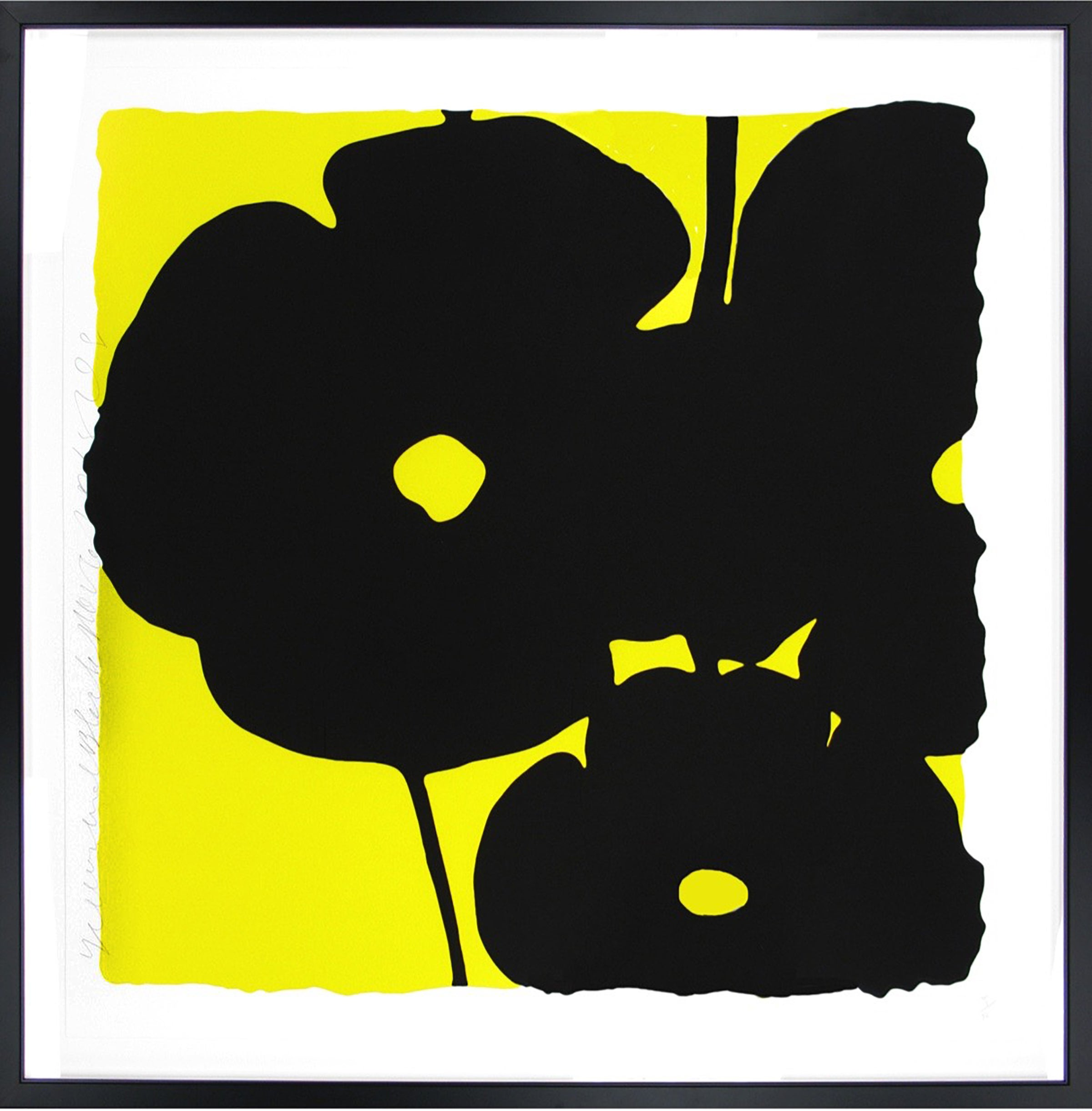Donald Sultan Yellow And Black Flowers Print For Sale At 1stdibs