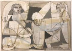 "Hayley Mitchell, ""1 Untitled"", Acrylic on Canvas, 2018, Cubist"
