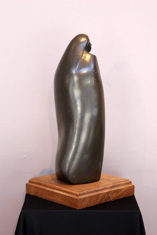 Shared Dreams - Gold Figurative Sculpture by Allan Houser (Haozous)
