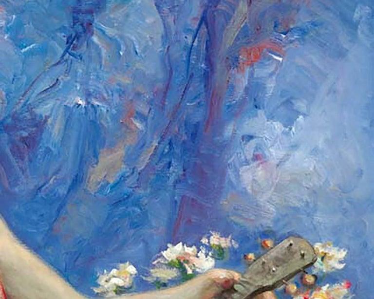 Azules y Rosas - Painting by José Royo