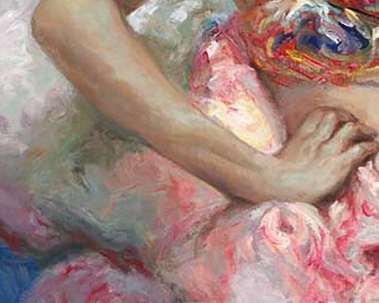 Azules y Rosas - Impressionist Painting by José Royo
