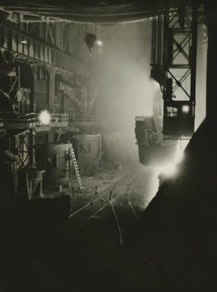 Margaret Bourke-White - Ladle B, Otis Steel Mill, Cleveland