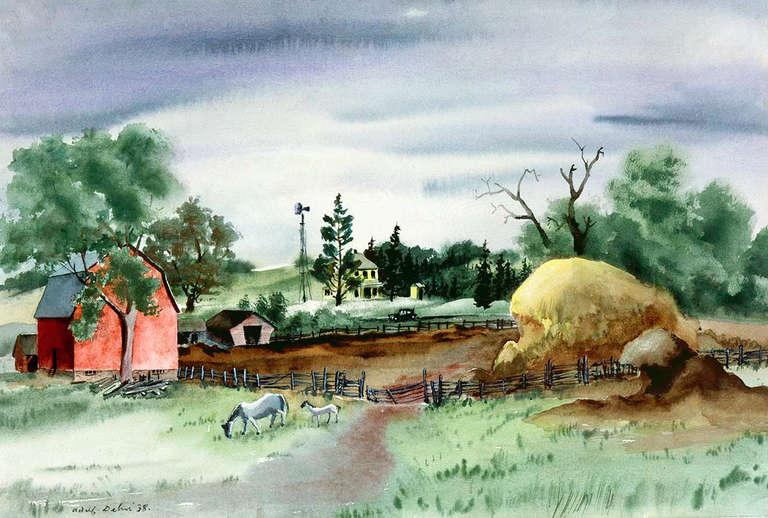 Adolf Arthur Dehn Minnesota Farm At 1stdibs
