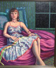 Portrait of Woman on Bed