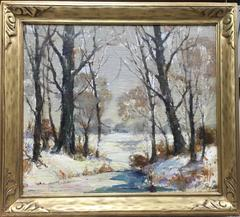 Winter Scene in the Woods