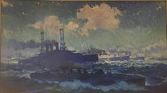 Seascape with Warships