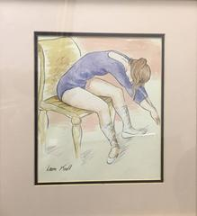 Seated Ballet Dancer, Stretching