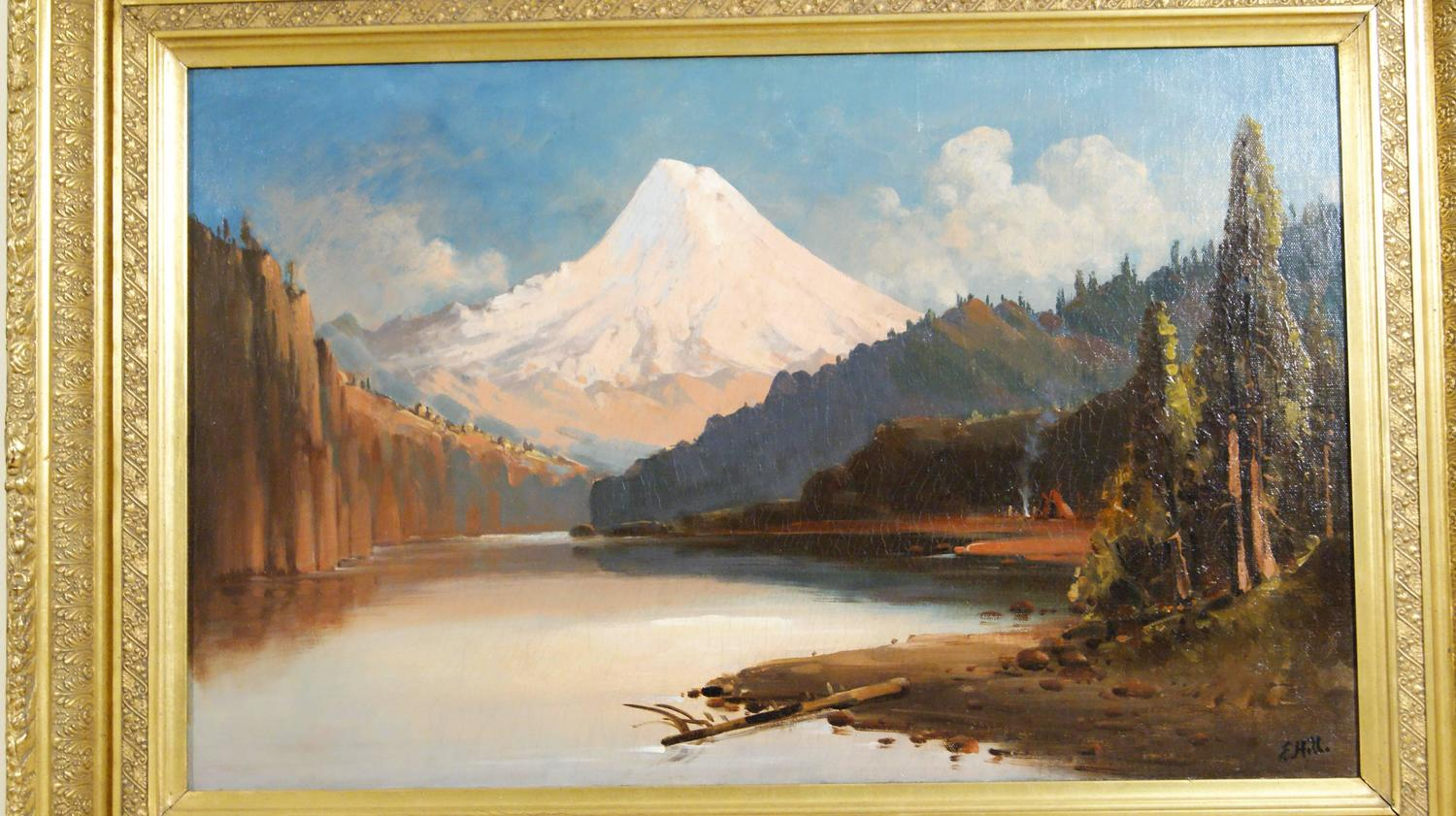 Edward hill mt hood from the hood river for sale at 1stdibs for The hood river