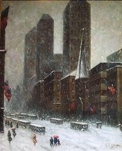 Snow Scene in Manhattan
