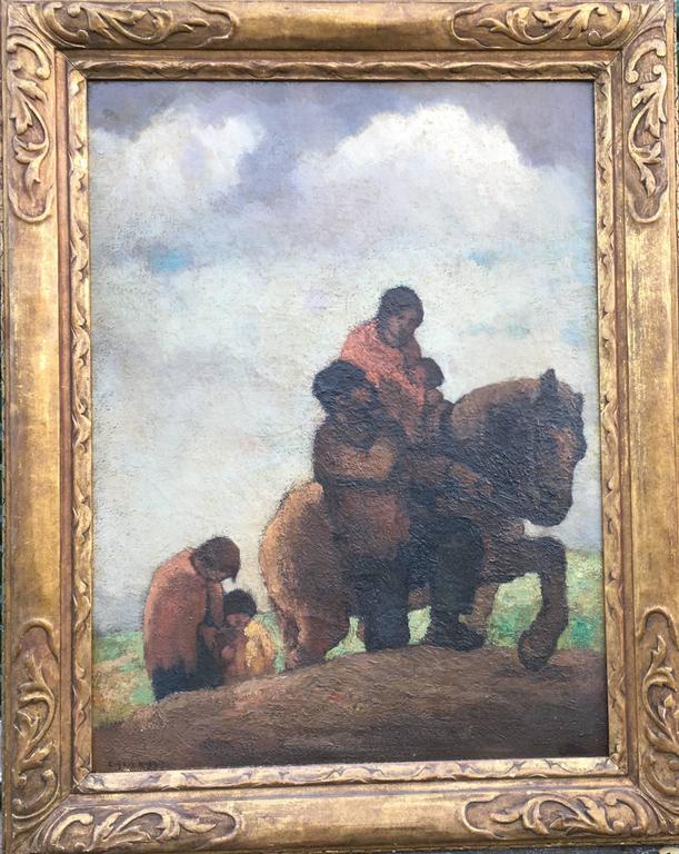 Eugene Higgins Figurative Painting - Traveling Family