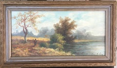 Landscape with Indian Near Lake