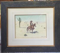 Vaquero on Horseback with Joshua Trees