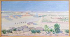 Desert Landscape with Apache Indians on Horseback