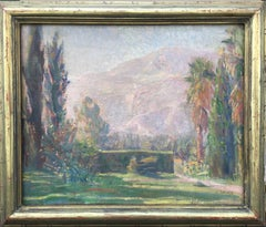 Impressionist Scene of Garden and Mt. Tamalpais in Marin County, California