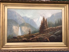 Yosemite Scene with Waterfall