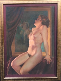 Nude with Painting of Dancing Nudes in the Background